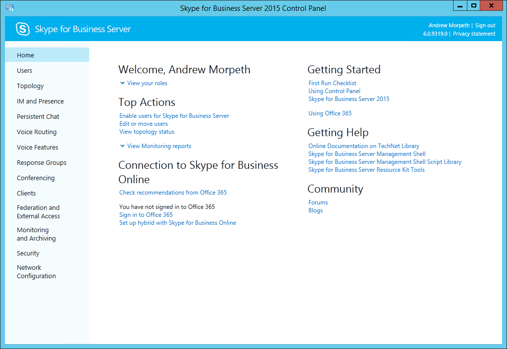Skype For Business 2015 Deployment Step By