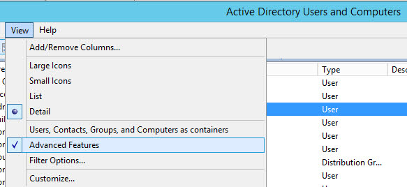 Active-Directory-Advanced-Features