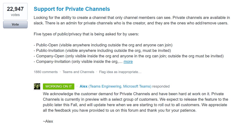 Microsoft Teams Private Channels Coming Soon | UC Geek